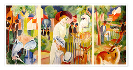 Poster Premium  The Zoo - August Macke