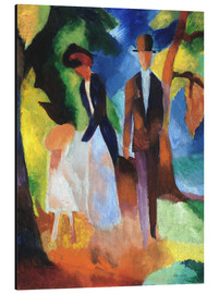 Stampa su alluminio  People at the blue lake - August Macke
