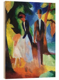 Legno  People at the blue lake - August Macke