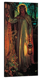 Alluminio Dibond  The Light of the World - William Holman Hunt