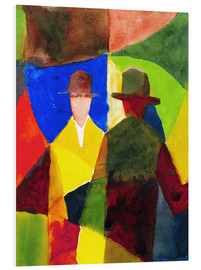 Stampa su schiuma dura  Mirror Image in the Shop Window - August Macke