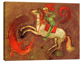 Stampa su tela  Knight George and dragon - August Macke