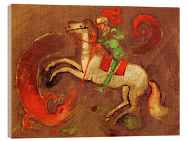 Stampa su legno  Knight George and dragon - August Macke