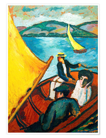 Poster Premium  Sailing Boat, Tegernsee - August Macke
