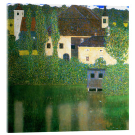 Stampa su vetro acrilico  Castle chamber on the Attersee I - Gustav Klimt