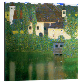 Alluminio Dibond  Castle chamber on the Attersee I - Gustav Klimt