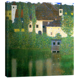 Stampa su tela  Castle chamber on the Attersee I - Gustav Klimt