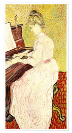 Poster Premium Marguerite Gachet at the piano
