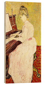 Stampa su legno  Marguerite Gachet at the piano - Vincent van Gogh