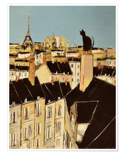 Poster Premium No scared of heights in Paris