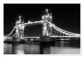 Poster Premium Tower Bridge by Night sw