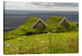 Stampa su tela  Traditional Houses in the Skaftafell National Park, Iceland - Markus Ulrich