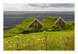 Poster Premium  Traditional Houses in the Skaftafell National Park, Iceland - Markus Ulrich