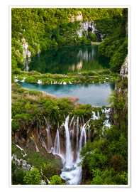 Poster Premium  Waterfall Paradise Plitvice Lakes - Andreas Wonisch