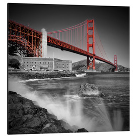 Stampa su alluminio  Golden Gate Bridge Fort Point - Melanie Viola