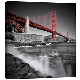 Stampa su tela  Golden Gate Bridge, Fort Point - Melanie Viola