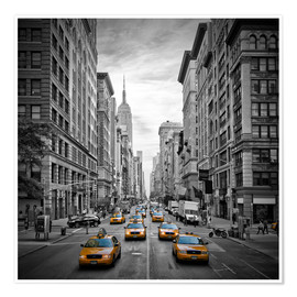 Poster Premium NEW YORK CITY 5th Avenue Traffic