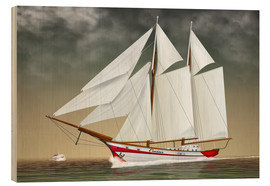 Stampa su legno  Sailing boat, two-masted sailing boat - Kalle60