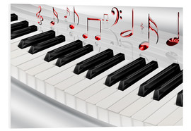 Stampa su PVC  Piano keyboard with notes - Kalle60