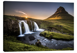 Stampa su tela  Fair Tyle Countryside in Iceland - Andreas Wonisch