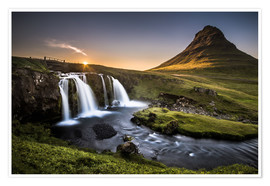 Poster Premium  Fair Tyle Countryside in Iceland - Andreas Wonisch