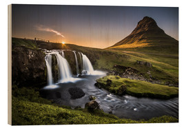 Stampa su legno  Fair Tyle Countryside in Iceland - Andreas Wonisch