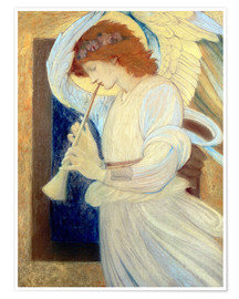 Poster Premium An Angel Playing a Flageolet