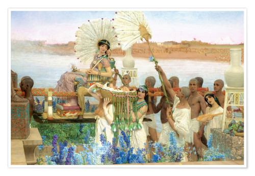 Poster Premium The Finding of Moses by Pharaoh's Daughter
