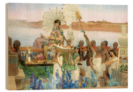 Stampa su legno  The Finding of Moses by Pharaoh's Daughter - Lawrence Alma-Tadema