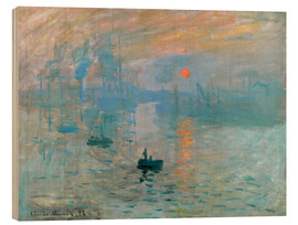 Legno  Sunrise - Claude Monet
