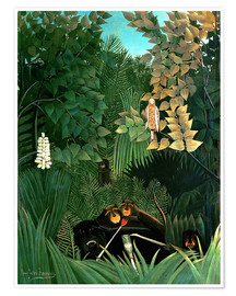 Poster  The monkeys - Henri Rousseau