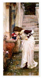 Poster Premium  Il santuario - John William Waterhouse