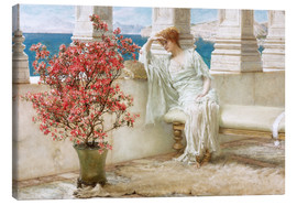 Stampa su tela  Her eyes are with her thoughts and they are far away - Lawrence Alma-Tadema