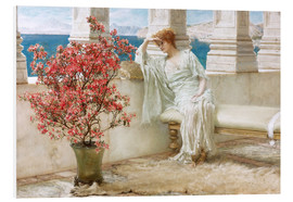 Stampa su schiuma dura  Her eyes are with her thoughts and they are far away - Lawrence Alma-Tadema