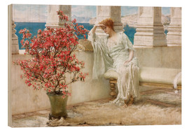 Legno  Her eyes are with her thoughts and they are far away - Lawrence Alma-Tadema