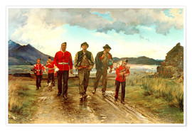 Poster Premium  'Listed for the Connaught Rangers': Recruiting in Ireland, 1878 - Lady Butler