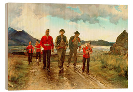 Stampa su legno  'Listed for the Connaught Rangers': Recruiting in Ireland, 1878 - Lady Butler