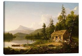 Stampa su tela  Home in the Woods - Thomas Cole