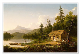 Poster Premium  Home in the Woods - Thomas Cole
