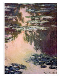 Poster  Waterlilies with Weeping Willows - Claude Monet