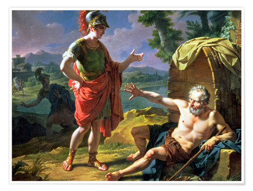 Poster Premium Alexander and Diogenes, 1818