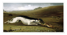 John Fitz Marshall - Hare Coursing in a Landscape, 1870