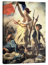Stampa su tela  Liberty Leading the People, detail - Eugene Delacroix