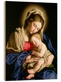 Stampa su legno  Madonna and Child - Il Sassoferrato