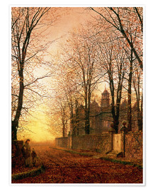 Poster Premium  In the Golden Olden Time, c.1870 - John Atkinson Grimshaw