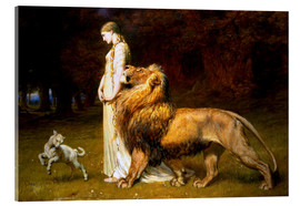 Stampa su vetro acrilico  Una and the Lion, from Spenser's Faerie Queene - Briton Riviere