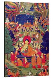 Stampa su alluminio  Thangka of Parinirvana of the Buddha - Tibetan School
