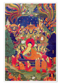 Poster Premium  Thangka of Parinirvana of the Buddha - Tibetan School
