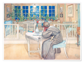 Poster Premium  The Evening Before the Journey to England - Carl Larsson