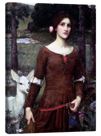 Stampa su tela  Lady Clare - John William Waterhouse